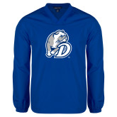 V Neck Royal Raglan Windshirt-D Dog