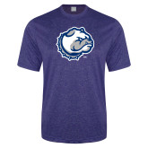 Performance Royal Heather Contender Tee-Bulldog Head
