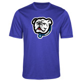 Performance Royal Heather Contender Tee-Griff