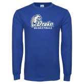 Royal Long Sleeve T Shirt-Drake Basketball