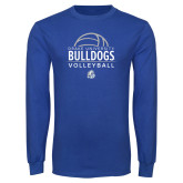 Royal Long Sleeve T Shirt-Bulldogs Volleyball