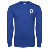 Royal Long Sleeve T Shirt-Drake D Logo