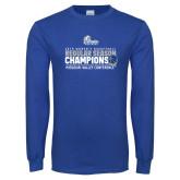 Royal Long Sleeve T Shirt-2019 Womens Regular Season Basketball Champions