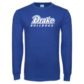 Royal Long Sleeve T Shirt-Athletic Wordmark