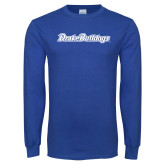 Royal Long Sleeve T Shirt-Drake Bulldogs