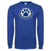 Royal Long Sleeve T Shirt-Paw Print Logo