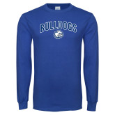 Royal Long Sleeve T Shirt-Bulldogs