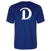 Performance Royal Tee-Drake D Logo