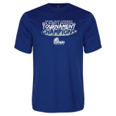 Performance Royal Tee-2018 Womens Basketball Tournament Champions