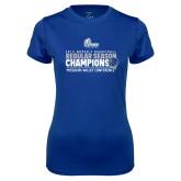 Ladies Syntrel Performance Royal Tee-2019 Womens Regular Season Basketball Champions