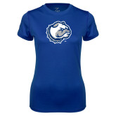 Ladies Syntrel Performance Royal Tee-Bulldog Head