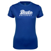 Ladies Syntrel Performance Royal Tee-Athletic Wordmark