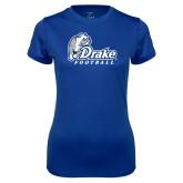Ladies Syntrel Performance Royal Tee-Drake Football