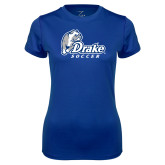 Ladies Syntrel Performance Royal Tee-Drake Soccer