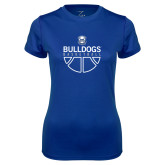 Ladies Syntrel Performance Royal Tee-Bulldogs Basketball