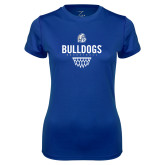 Ladies Syntrel Performance Royal Tee-Bulldogs Basketball Net