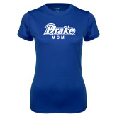 Ladies Syntrel Performance Royal Tee-Drake Mom