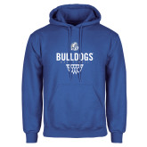 Royal Fleece Hoodie-Bulldogs Basketball Net