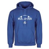 Royal Fleece Hoodie-Bulldogs Football