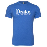 Next Level Vintage Royal Tri Blend Crew-Drake University