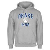 Grey Fleece Hoodie-Drake MBA