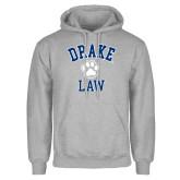 Grey Fleece Hoodie-Drake Law