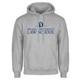 Grey Fleece Hoodie-1865 Drake Law School