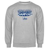 Grey Fleece Crew-2018 Womens Basketball Tournament Champions