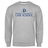 Grey Fleece Crew-1865 Drake Law School
