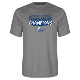 Performance Grey Concrete Tee-2018 Womens Basketball Tournament Champions