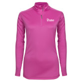 Ladies Syntrel Interlock Raspberry 1/4 Zip-Drake University