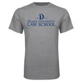 Grey T Shirt-1865 Drake Law School