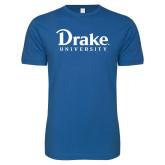 Next Level SoftStyle Royal T Shirt-Drake University