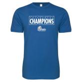 Next Level SoftStyle Royal T Shirt-2018 Womens Basketball Tournament Champions