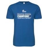 Next Level SoftStyle Royal T Shirt-2019 Womens Regular Season Basketball Champions