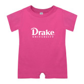 Bubble Gum Pink Infant Romper-Drake University