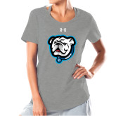 Ladies Under Armour Grey Charged Cotton Tee-Griff