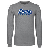 Grey Long Sleeve T Shirt-Drake Grandpa