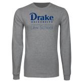 Grey Long Sleeve T Shirt-Law School