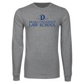 Grey Long Sleeve T Shirt-1865 Drake Law School