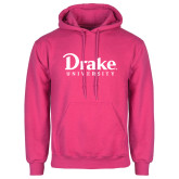 Fuchsia Fleece Hoodie-Drake University