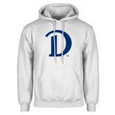 White Fleece Hoodie-Drake D Logo