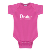 Fuchsia Infant Onesie-Drake University