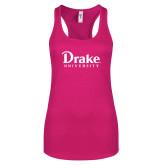 Next Level Ladies Raspberry Ideal Racerback Tank-Drake University