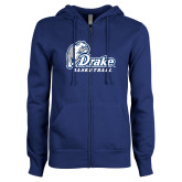 ENZA Ladies Royal Fleece Full Zip Hoodie-Drake Basketball