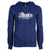 ENZA Ladies Royal Fleece Full Zip Hoodie-Drake Alumni