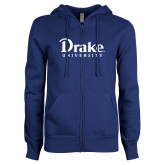 ENZA Ladies Royal Fleece Full Zip Hoodie-Drake University