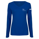 Ladies Royal Long Sleeve V Neck Tee-Robert and Billy Center