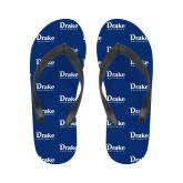 Ladies Full Color Flip Flops-Drake University