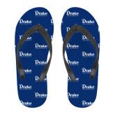 Full Color Flip Flops-Drake University